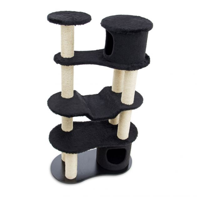 Arranhador para Gatos Building Preto 7014 Carlu Pet House