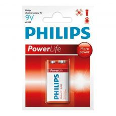 Bateria 9V Philips Alcalina Power Life