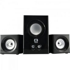 Caixa Multimídia 2.1 com Subwoofer 8W RMS SP-223BS Preto C3Tech