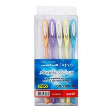 Caneta Gel Signo Angelic Colour com 5 cores Uni-Ball