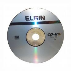 CD-RW Regravável 700mb / 80 min /12x Envelope Elgin