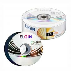 CD-RW Regravável 700mb / 80min / 12x Bulk com 25 unidades Elgin