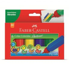 Cola Colorida 6 cores 23g Plastipaint Faber-Castell