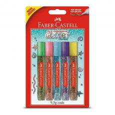 Cola Glitter 5 cores Faber-Castell