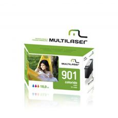 Compativel HP 901XL Color 18ML Multilaser Cartucho de impressora