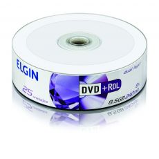 DVD+R DL Dual Layer 8.5gb / 240min / 8x (Pino com 25 unidades) Elgin