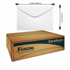 Envelope Visita 72x108 63g Branco com 1000 envelopes Foroni