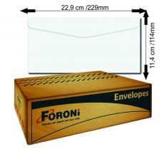 Envelope Oficio 114x229 Branco sem RPC com 1000 envelopes Foroni