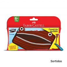 Estojo Escolar Monstro Creativity for Kids Vermelho Faber-Castell
