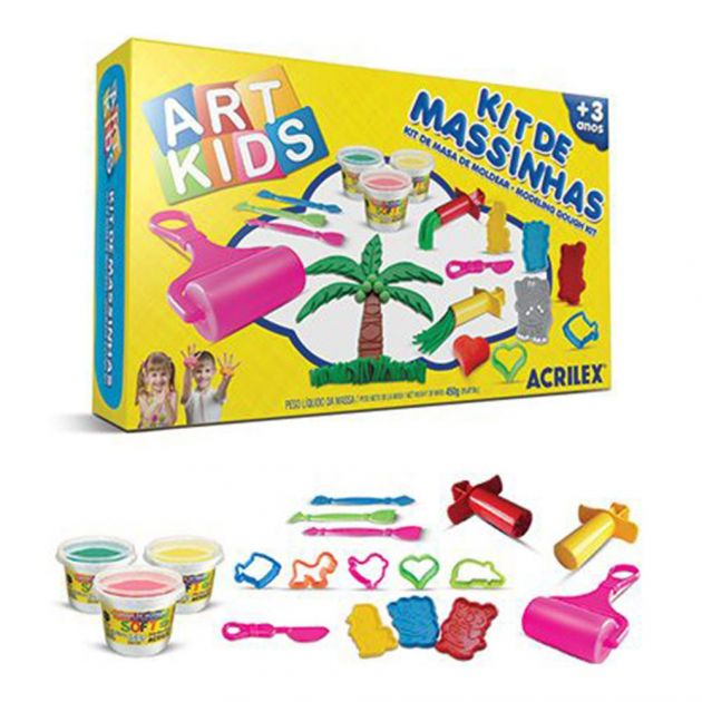 Kit de Massinhas Art Kids nº6 Acrilex
