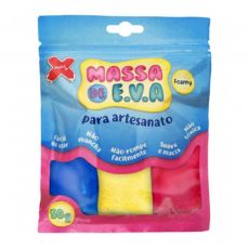 Massa de EVA Lisa 50g 5 Cores Sortidas  Make+