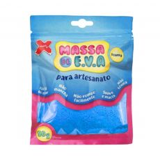 Massa de EVA Lisa 50g Azul Claro Make+