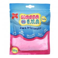 Massa de EVA Lisa 50g Rosa Bebe Make+