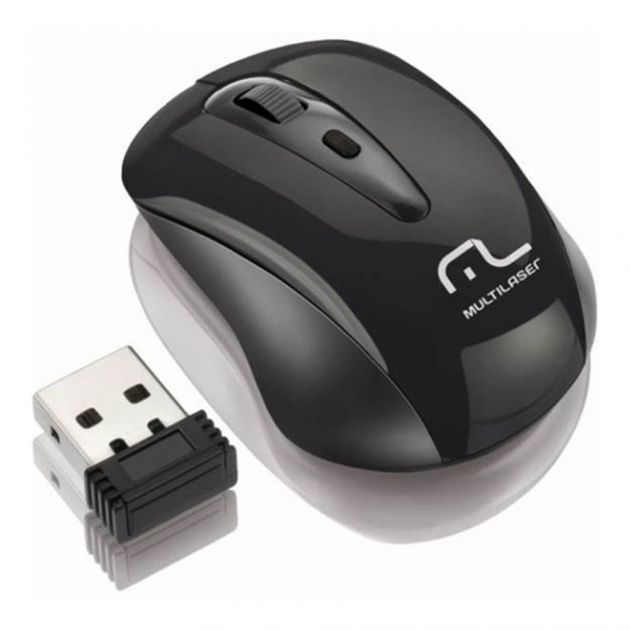 Mouse sem Fio 2,4ghz Black Piano MO049 Multilaser