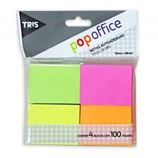 Nota Autoadesiva T003 Pop Office 4 Cores - Tris