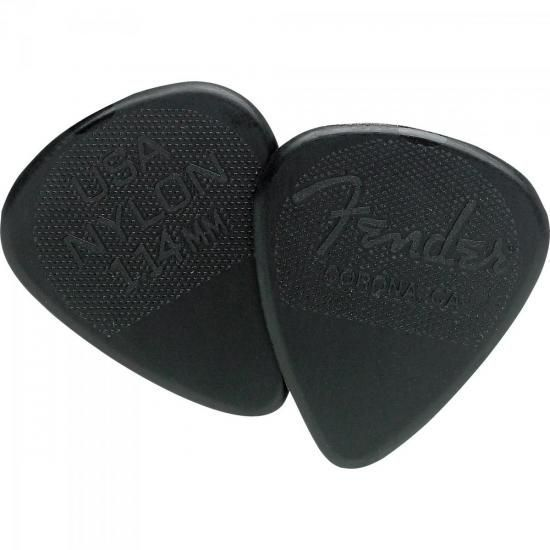 Palheta Nylon Pick 1.14 Extra Grossa Black FENDER