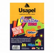 Papel A4 120g Criativo Color Card Neon Usapel