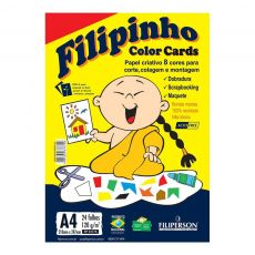 Papel A4 120g Criativo Filipinho Color Card
