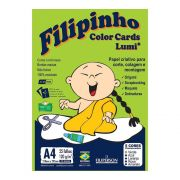 Papel A4 120g Criativo Filipinho Color Card Lumi