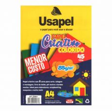 Papel A4 85g Criativo Colorido Usapel Color
