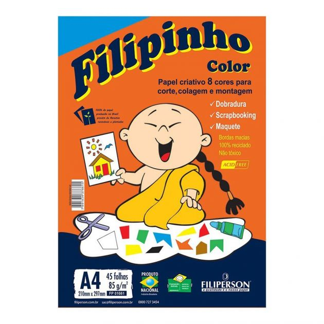 Papel A4 85g Criativo Filipinho Color
