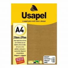 Papel A4 Kraft Natural 180g com 50 folhas Usapel