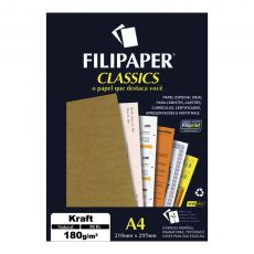 Papel A4 Kraft Natural 180g com 50 folhas Filipaper