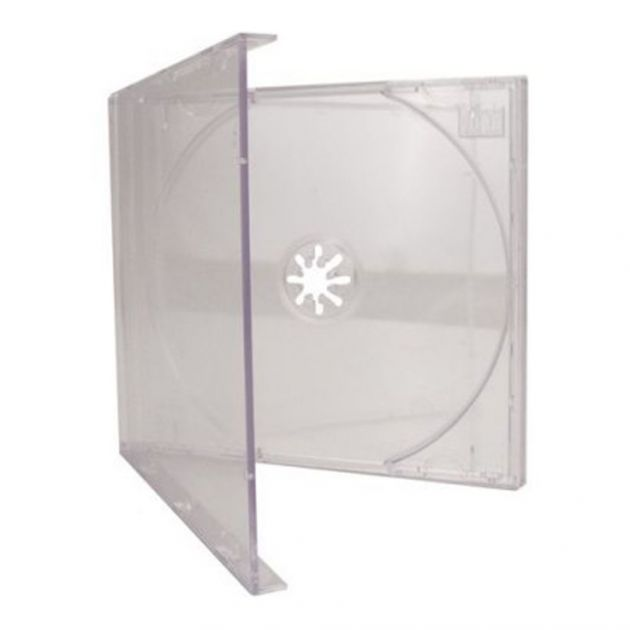 Estojo para CD e DVD Box Cristal 10mm