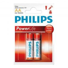 Pilha Alcalina AA POWER ALKALINE BLISTER COM 2 UNIDADES PHILIPS