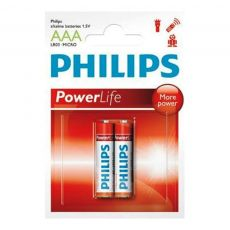 Pilha Alcalina AAA POWER ALKALINE BLISTER COM 2 UNIDADES PHILIPS