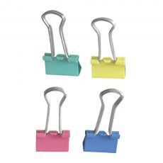 Prendedor de Papel Binder Clip 19mm Color com 40 unidades JocarOffice