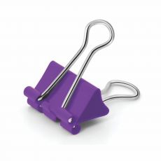 Prendedor de Papel Binder Clip 25mm Lilás Pop Office com 8 Unidades Tris
