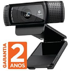 Webcam FULL HD Pro Logitech 1080P C920 15mp Com microfone